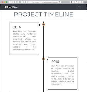 Screen shot of timeline